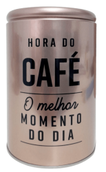 Lata de Mantimento Cafe   Rose Gold Pequena